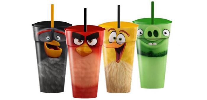 Copos Colenionáveis Angry Birds - Cine Max 3D