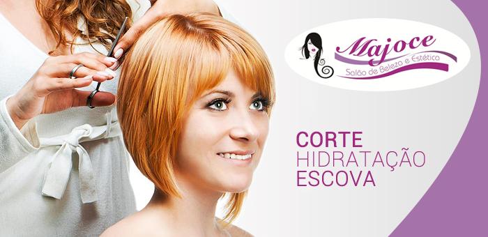 Corte Feminino + Hidratação + Escova com Jairo Cabeleireiro! - Salão Majoce e Jairo