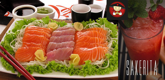 Sequência de Sushi + 6 Sashimis +1 Sakerita no Schunk-King! - Restaurante Schung-King