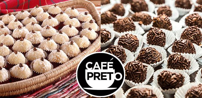 50 Deliciosos Doces Premium Sortidos no Café Preto! - Café Preto