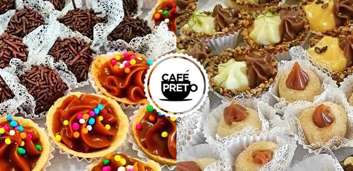 50 Deliciosos Doces Premium Sortidos - Café Preto