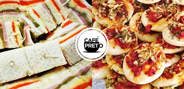 50 Deliciosos Salgados Premium Sortidos no Café Preto! - Café Preto
