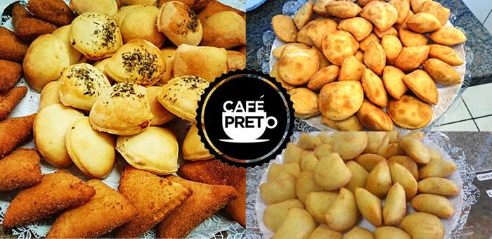 50 Salgados Premium Sortidos do Café Preto! - Café Preto