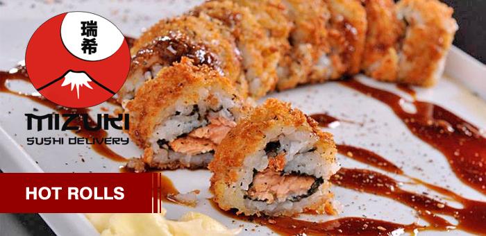 Hot Rolls 9 Peças Salmão grelhado - Mizuki Sushi Delivery