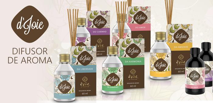 Difusores de Aroma 60ml Evie - Recanto dos Aromas
