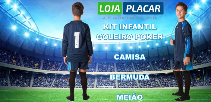 Oferta para o Dia das Crianças Kit Infantil Goleiro Poker! - Loja Placar