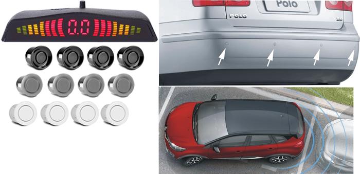 Sensor de Estacionamento 4 pontos para Para-choque Traseiro - Best Sound