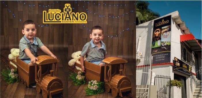 Sessão Fotográfica Infantil 5 Fotos Tamanho 15x21 Impressas - Estúdio Luciano Küster Fotografia