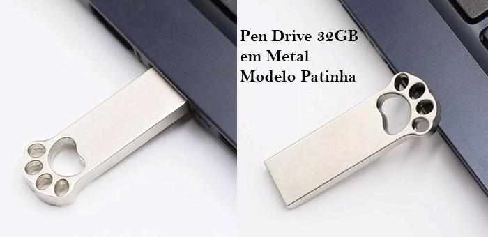 Pen Drive 32GB em Metal Patinha! - InfoCel - Assistência Técnica